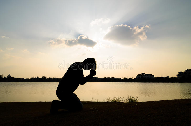 Man praying. royalty free stock photos