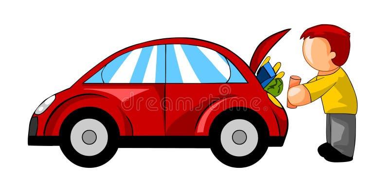 Download Man Prepares For A Journey By Car Stock Illustration - Illustration of travelling, transport: 12936938