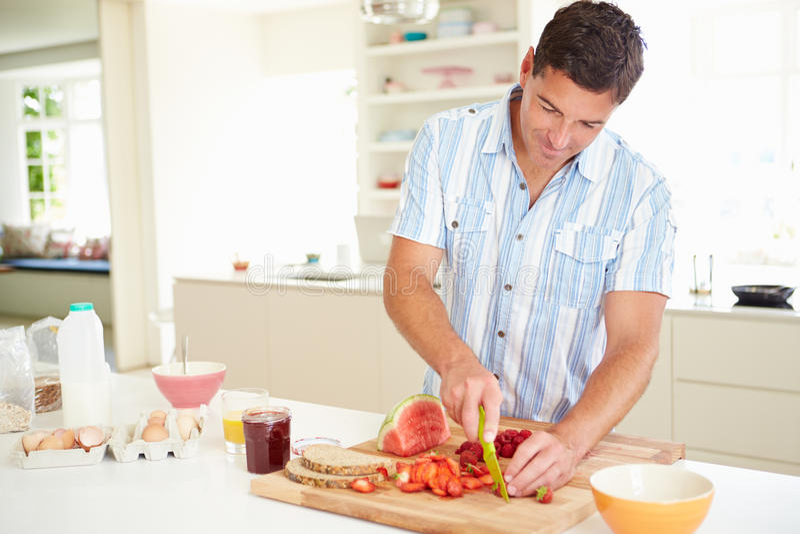Wonderful Download Man Preparing Healthy Breakfast In Kitchen Stock Photos   Image:  34169423