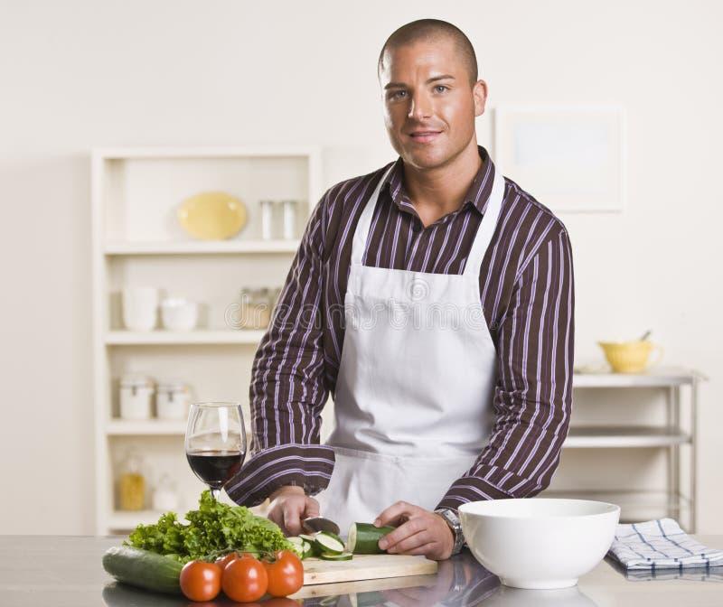 Man Preparing Meal stock photography
