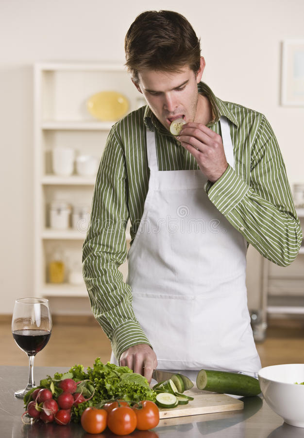 Download Man Preparing Meal Stock Images - Image: 9749874