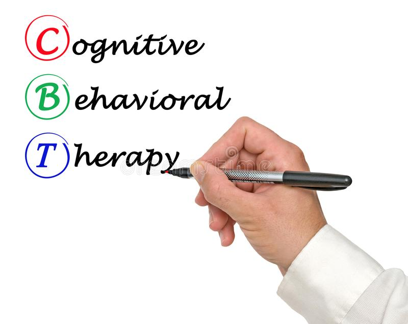 Cognitive Behavioral Therapy royalty free stock photos