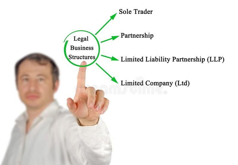 Legal Business Structures. Man presenting Legal Business Structures royalty free stock photos