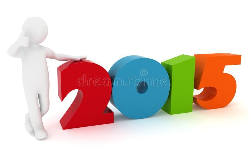 Man presenting new year 2015. stock illustration