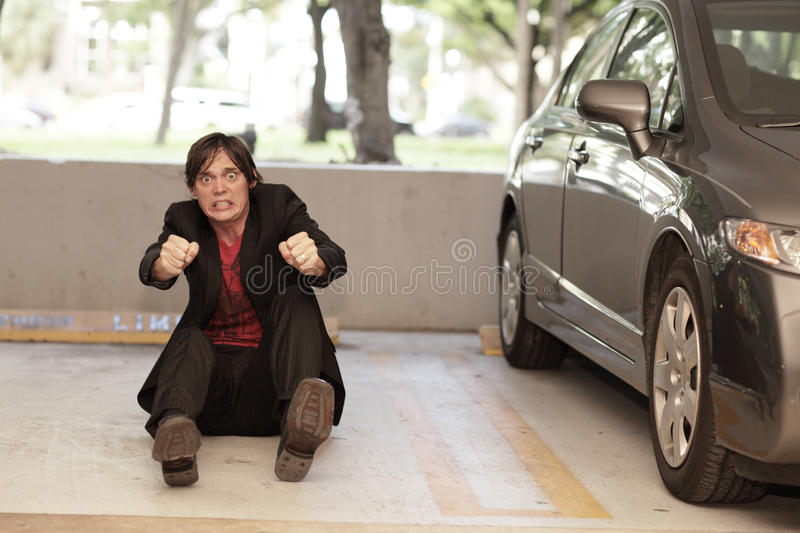 Download Man Pretending To Drive A Car Stock Photo - Image: 15791354