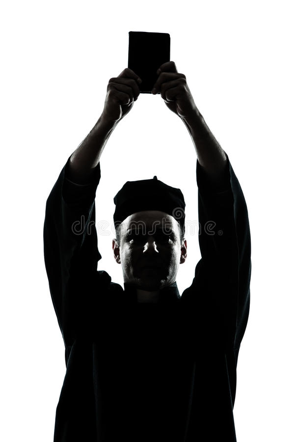 Download Man Priest Wrath Of God Silhouette Stock Image - Image: 26424297