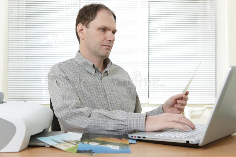 Man printing photos
