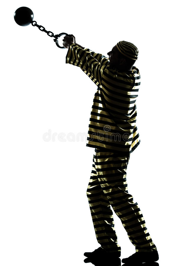 Download Man Prisoner Criminal With Chain Ball Stock Image - Image: 26424253