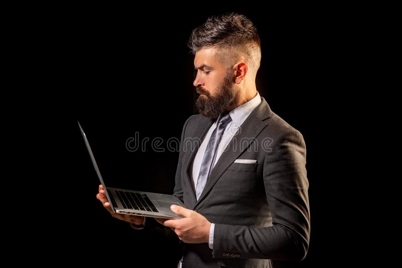 Man professional possibly accountant architect businesswoman lawyer attorney. Job offer. Business confident. stock image
