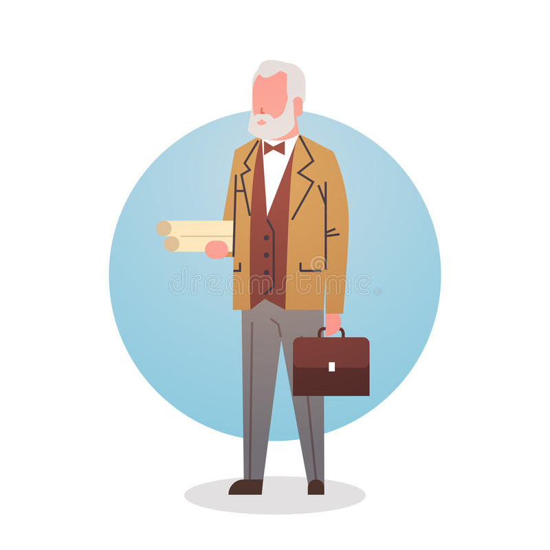 Man Professor Teacher Icon University Stuff Worker Professional Occupation stock illustration