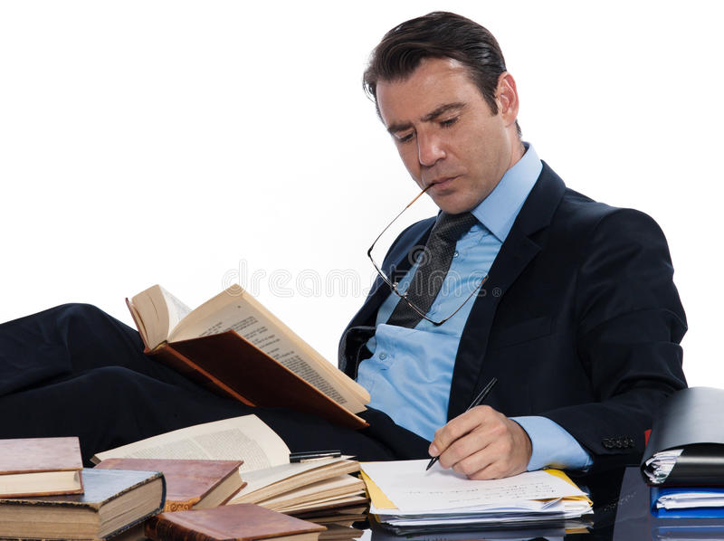 Man professor working stock images