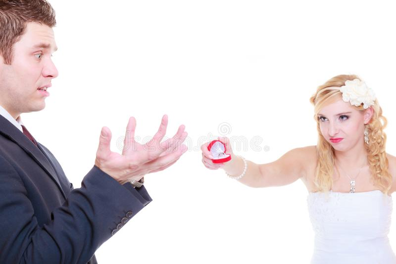 Man proposes to woman, she refuses stock images