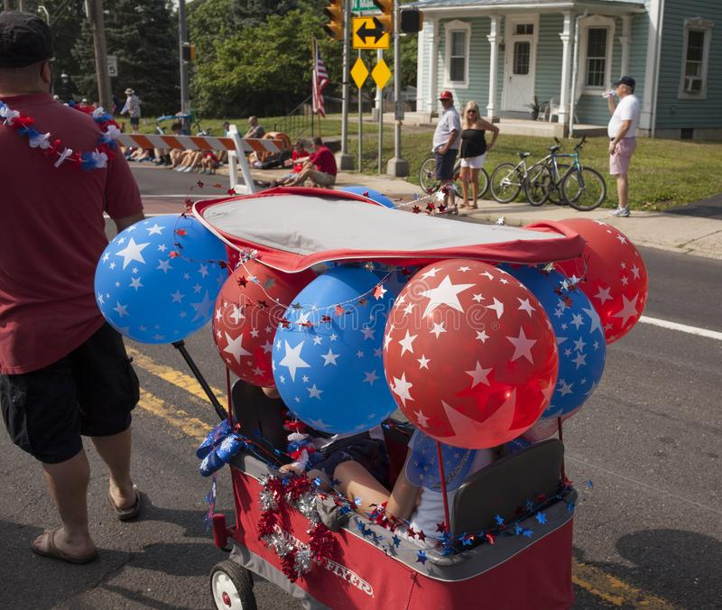 Fourth of July parade in Chalfont, Pa. USA stock photo