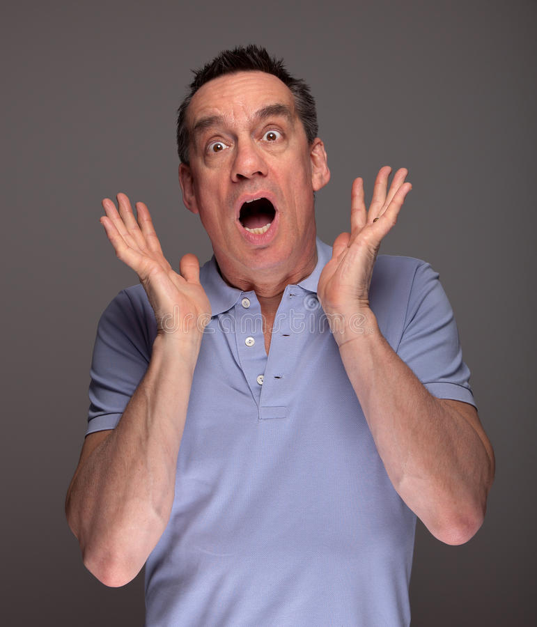 Download Man Pulling Face Screaming In Shock Royalty Free Stock Photos - Image: 23972318