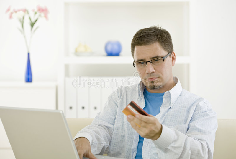 Download Man Purchasing By Credit Card Stock Photo - Image: 7073204