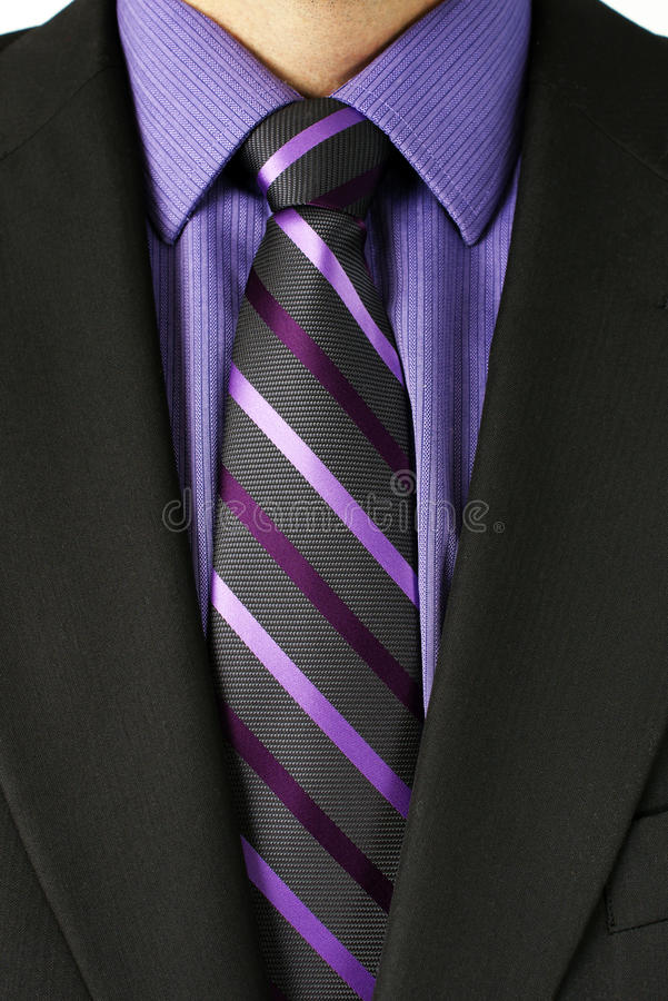 Download Man With Purple Striped Tie Stock Image - Image: 28413565