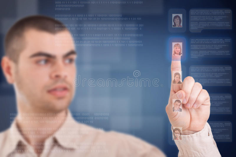 Download Man Push The Button Stock Photo - Image: 23803170