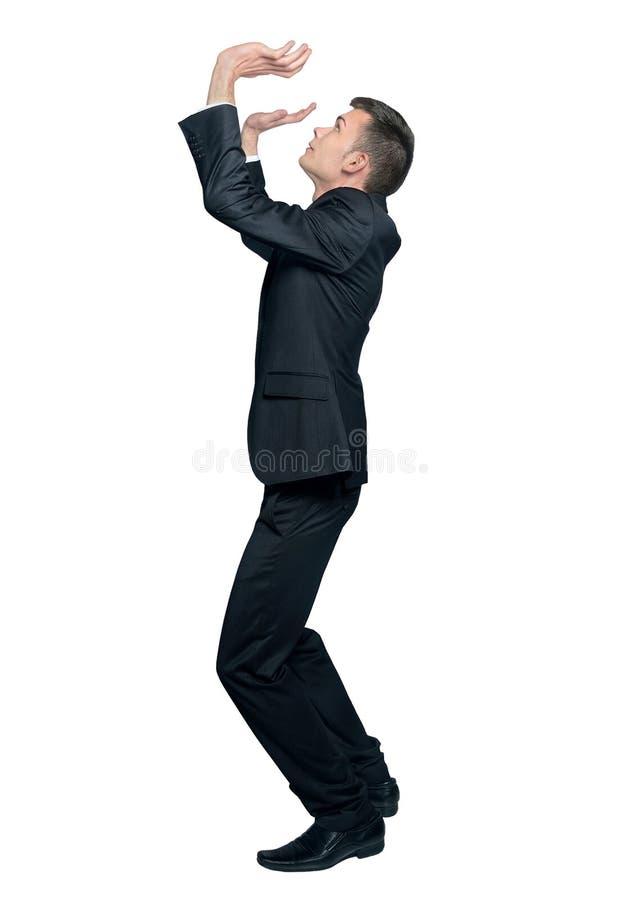 Free Man Pushing Up Royalty Free Stock Image - 49407516