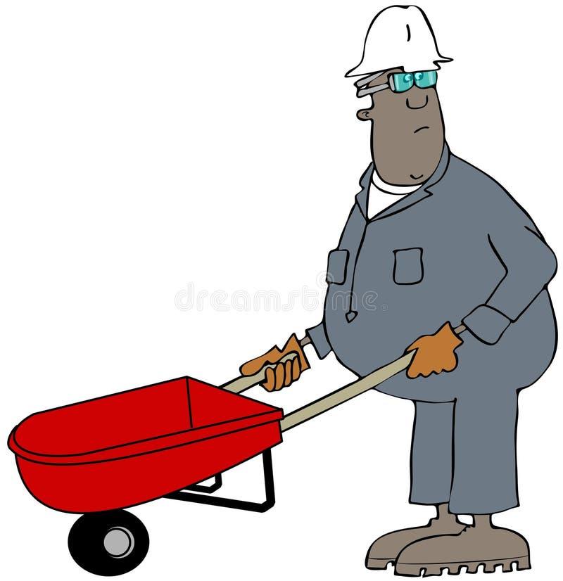 Download Man pushing a wheelbarrow stock illustration. Image of wheelbarrow - 39922137