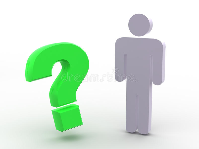 Download Man and question stock illustration. Illustration of asked - 9989634