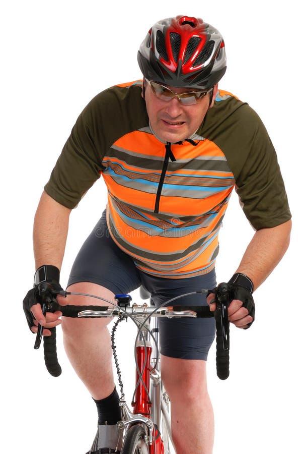 Man On Race Road Bike Stock Photography