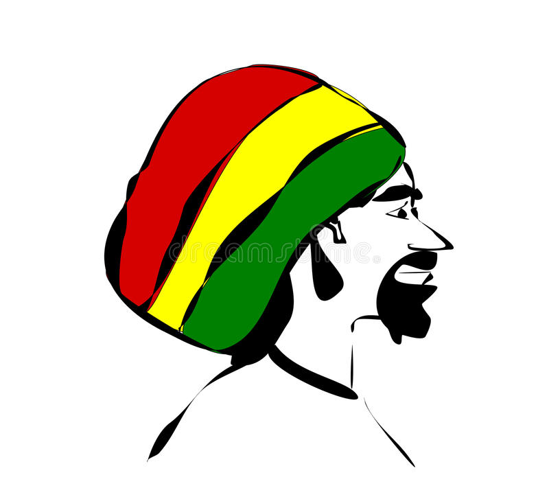 Download Man with rastafarian hat stock vector. Image of weed - 28040286