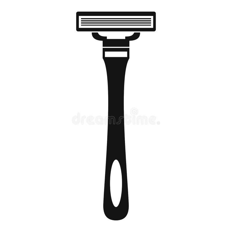 Man razor icon, simple style royalty free illustration