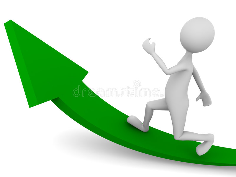 Download Man reaching for the goal stock illustration. Image of presentation - 8521858
