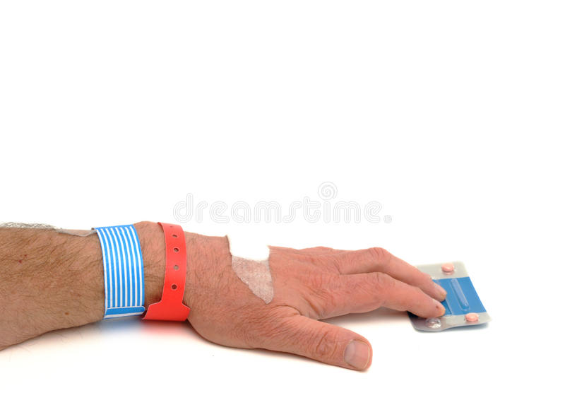 Download Man Reaching For Pills Stock Photos - Image: 13209203