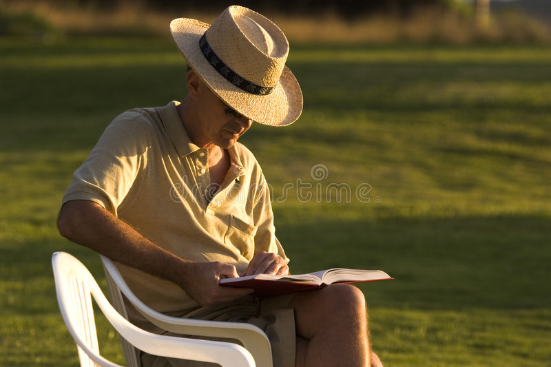 Man Reading stock image