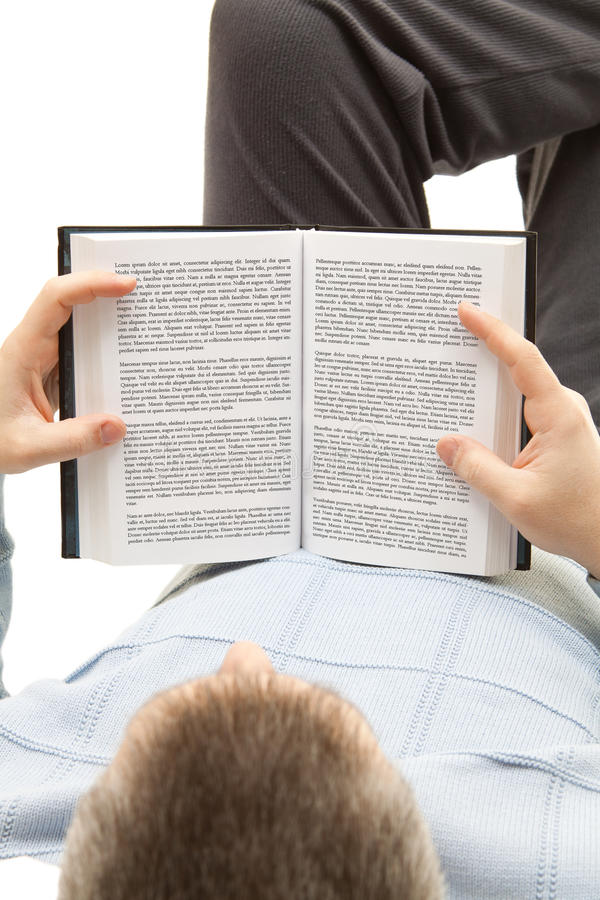 Man reading a book royalty free stock photography