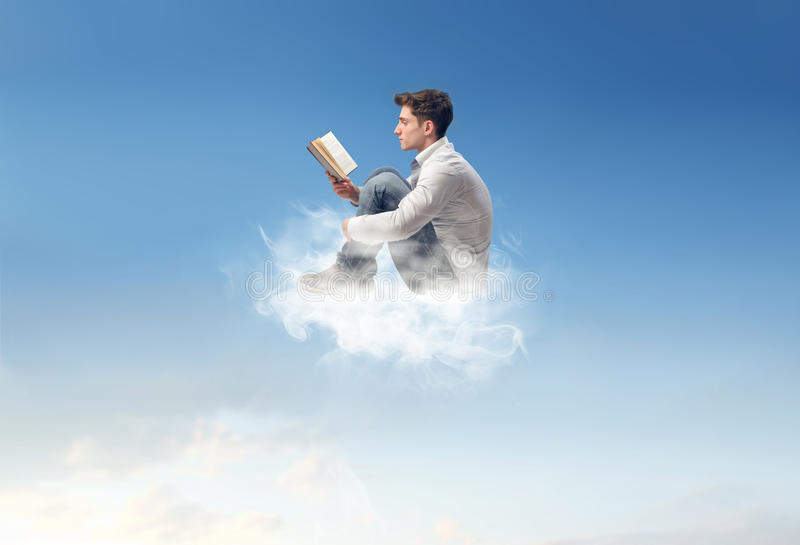 Download Man with a book stock photo. Image of explore, altitude - 29796436