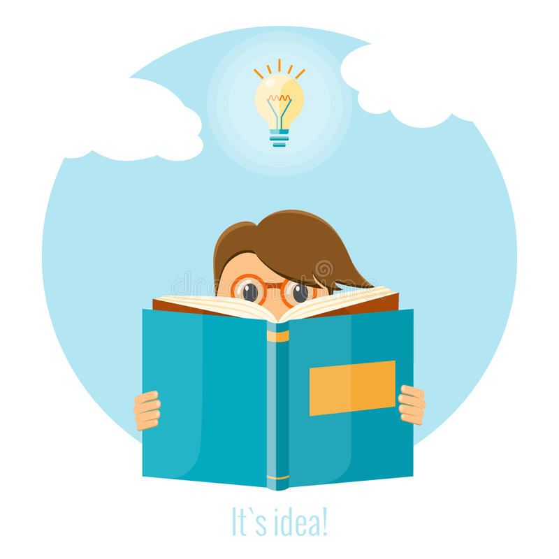 Man reading a book for creating a good idea. Business idea concept. royalty free stock image