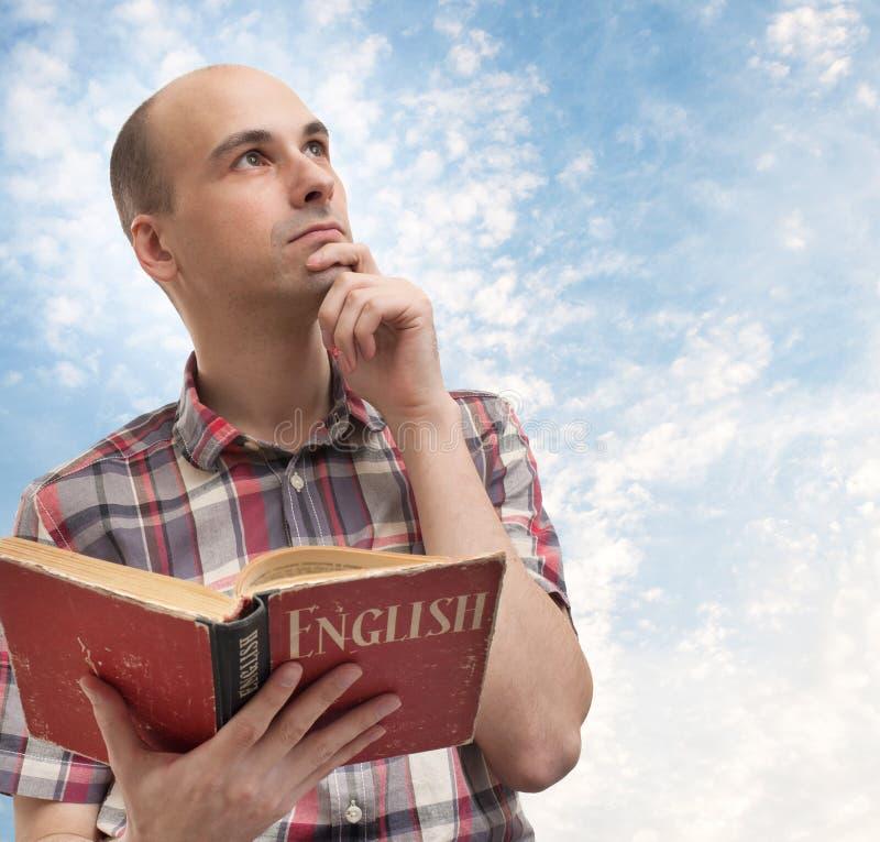 Free Man Reading English Stock Photos - 28854923