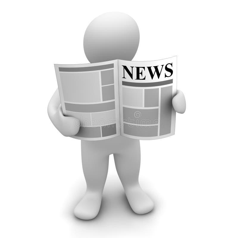 Download Man reading newspaper stock illustration. Illustration of headline - 19098209