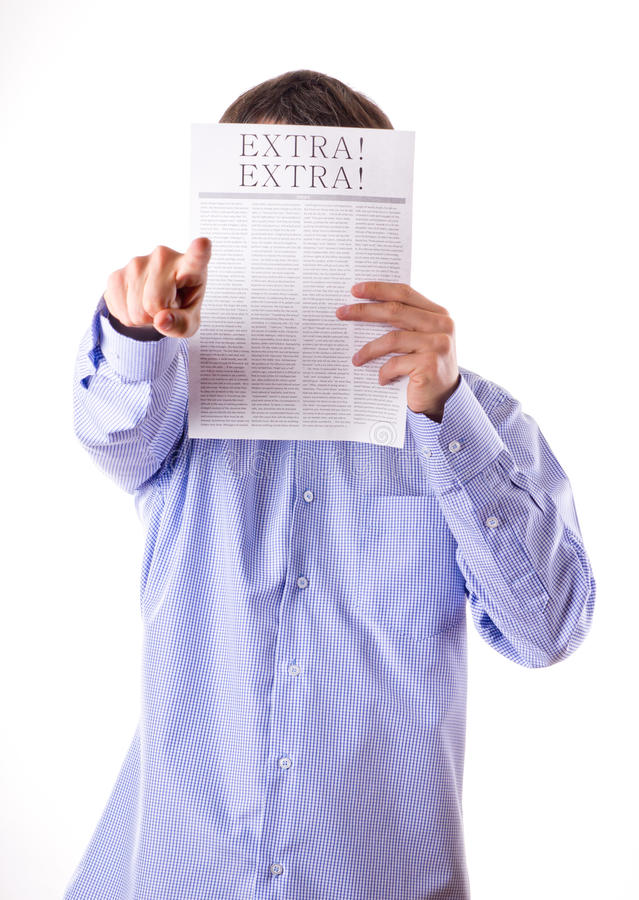 Download Man reading a newspaper stock photo. Image of news, article - 23464570