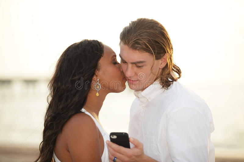 Download Man reading a text message stock image. Image of couple - 26487899