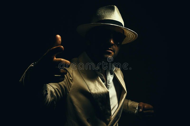 Man Ready for Fight royalty free stock photos
