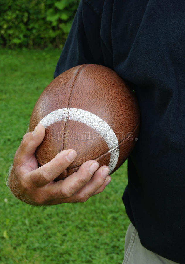 Download Man ready to run football stock image. Image of field - 15880707