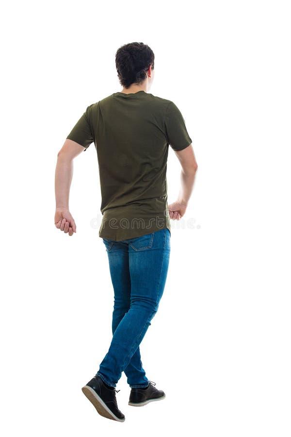 Man rear view walking royalty free stock photo