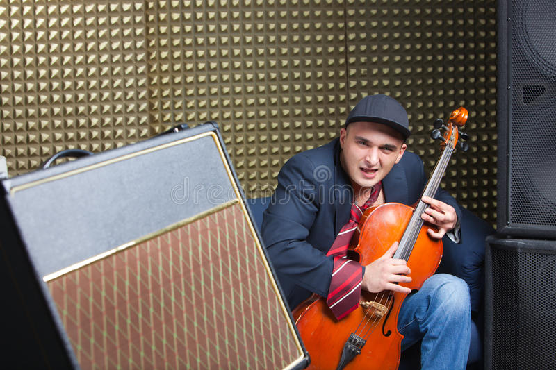 Download Man in recording studio stock photo. Image of music, colorful - 14804216
