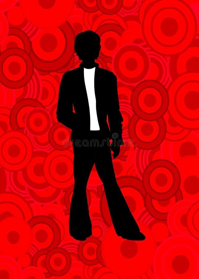 Man on red circles
