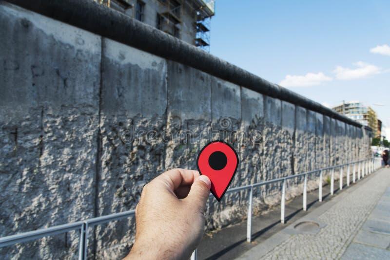 Berliner Mauer Memorial Mark Stock Photo