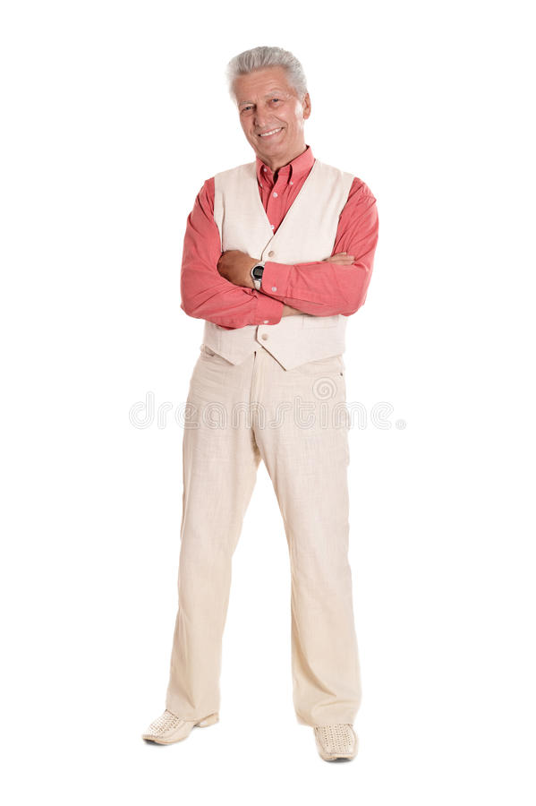 Man in a red shirt stock photo