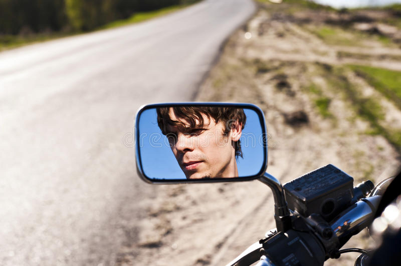 Download Man in the reflection stock image. Image of driving, sunlight - 25015523