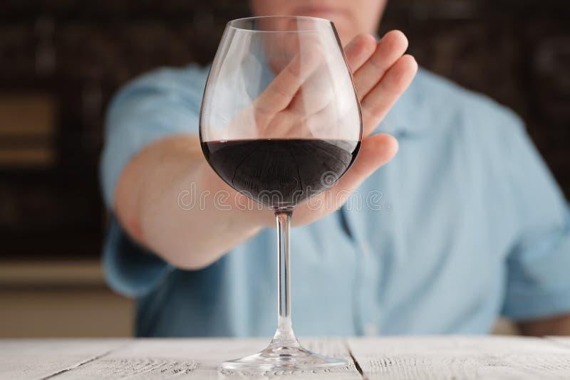 Man refuse Alcohol royalty free stock photos