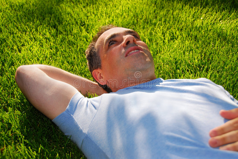 Man relaxing royalty free stock image