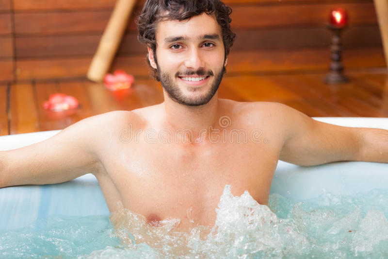 Download Man Relaxing In A Beauty Farm Stock Photo - Image: 41547038