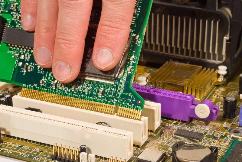 Man repair computer stock photo