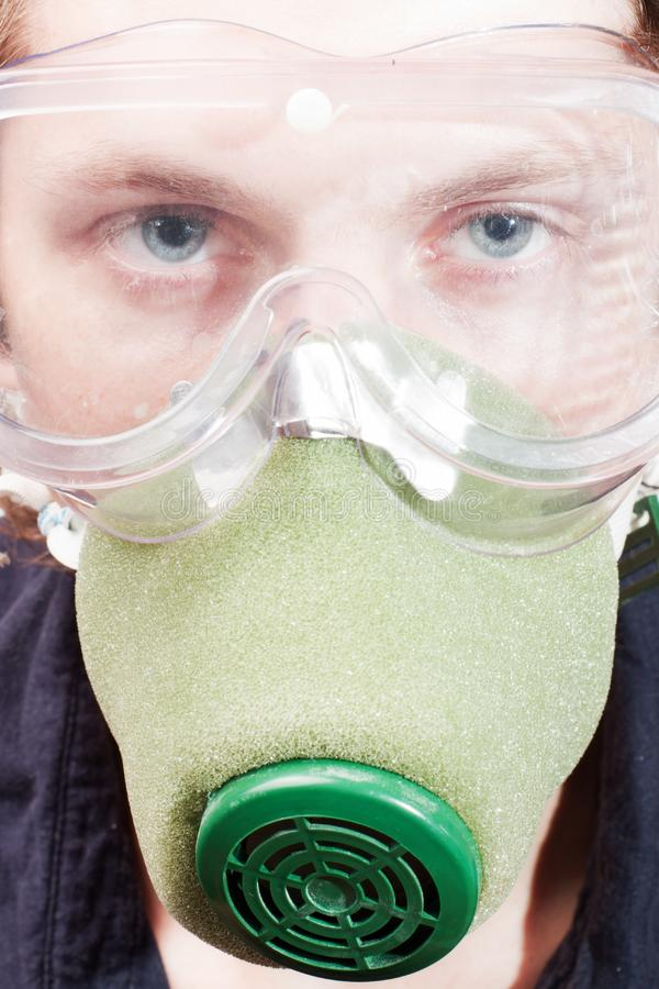 Download Man in a respirator stock photo. Image of background - 15470326